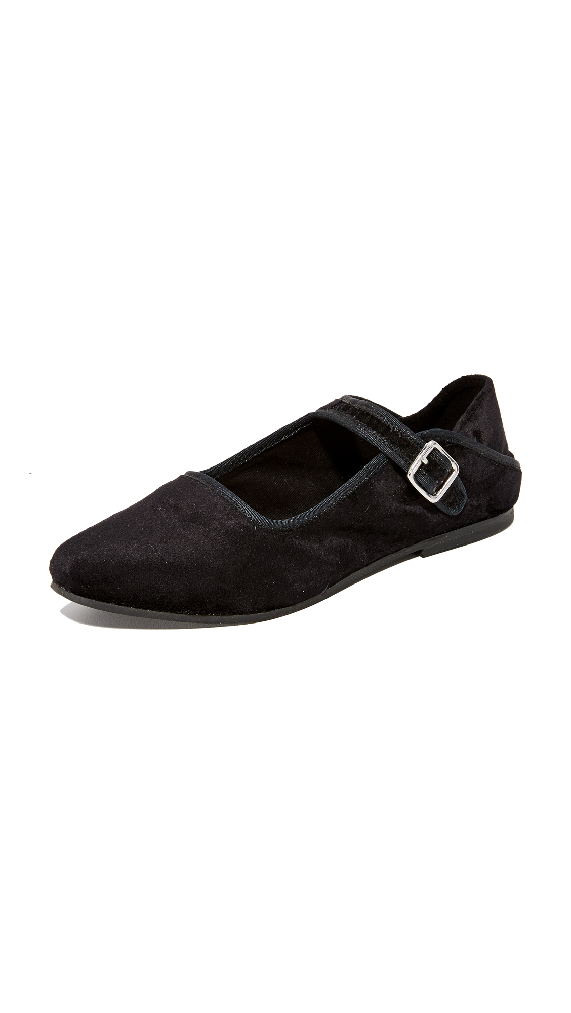 Free People Evie Mary Jane Convertable Flats - Black