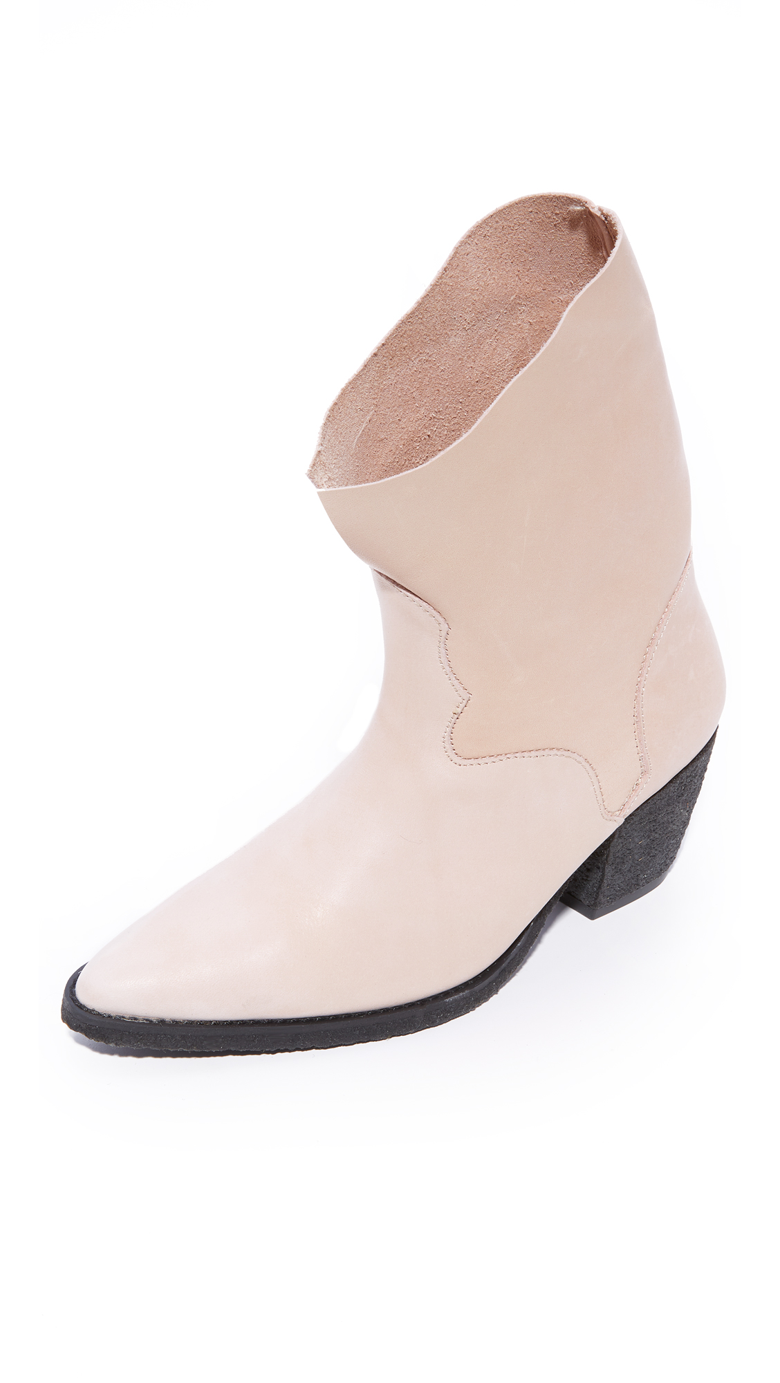 Free People Twilight Ankle Booties - Nude