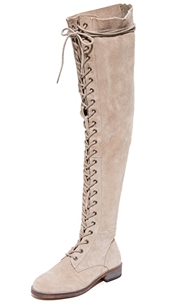 Free People Tennessee Lace Up Boots In Grey