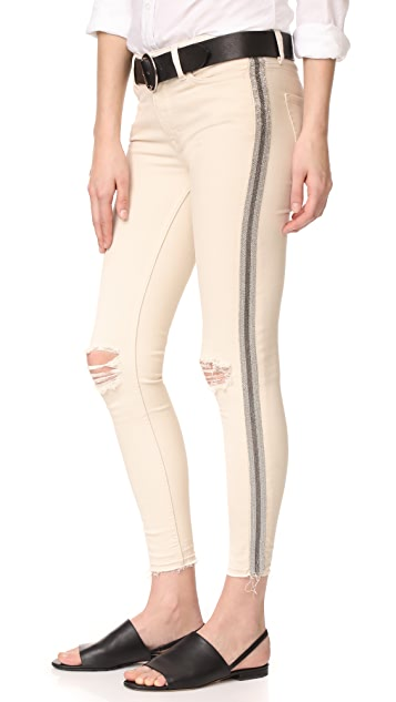 Free People Side Embellished Skinny Jeans