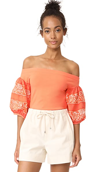 Free People Rock with It Top - Coral