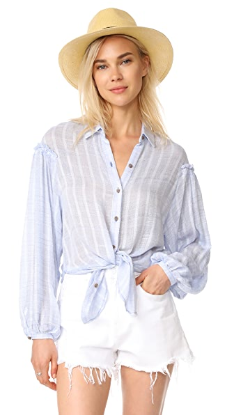 Free People Headed To The Highlands Top In Blue