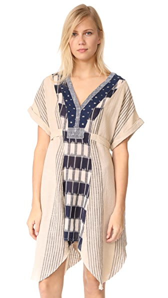 Free People Started From Nothing Dress In Neutral Combo