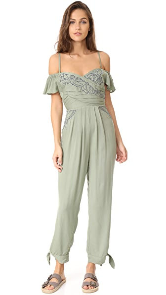 Free People In the Moment Jumpsuit - Green