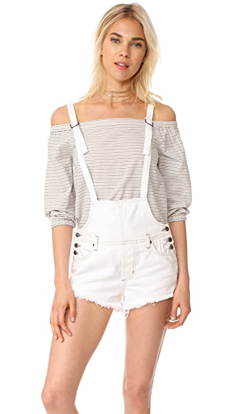 Free People Strappy Shortalls