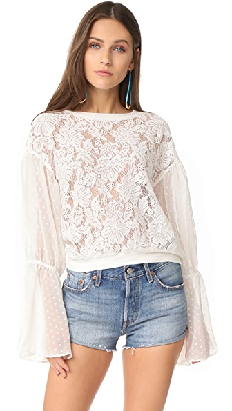 Free People Something Like Love Blouse - Ivory