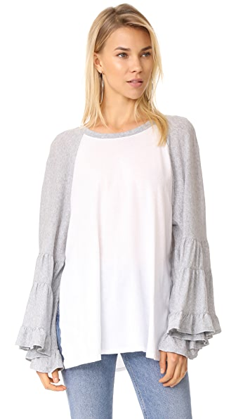 Free People No Crying in Baseball Tee - Ivory