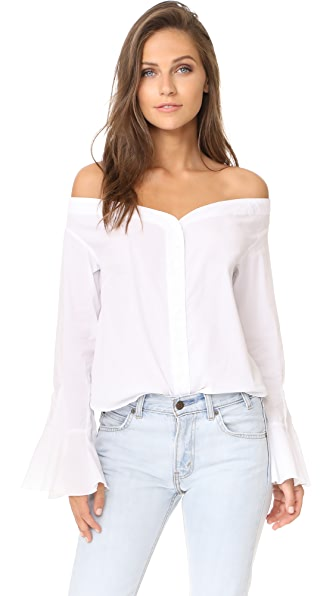 Free People March To The Beat Top - White