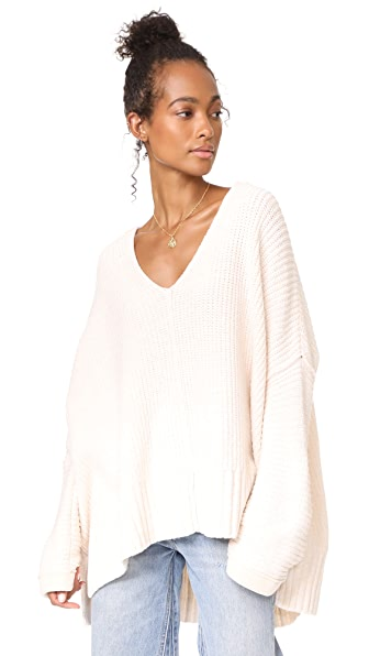 Free People Take Over Me V Neck Sweater