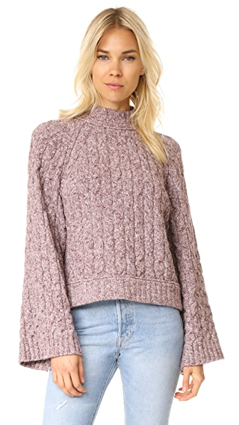 Free People Snow Bird Sweater Pullover - Light Purple