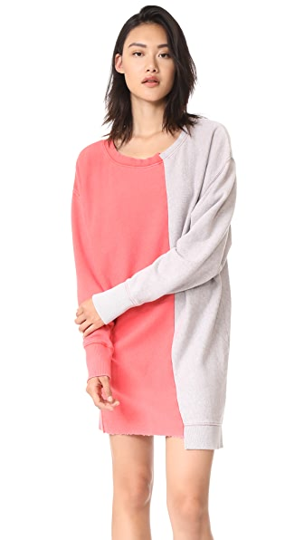 Free People Coloring In Pullover Sweatshirt Dress - Poppy Combo