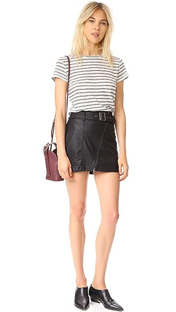 Free People Feelin Fresh Vegan Leather Skirt
