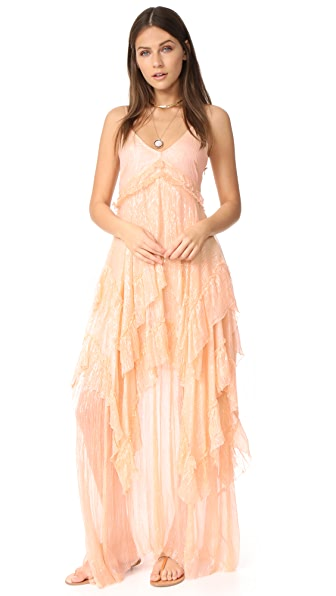 Free People Midnight Rendezvous Maxi Dress - Pink