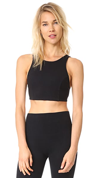 Free People Ribbed Lua Crop Top In Black