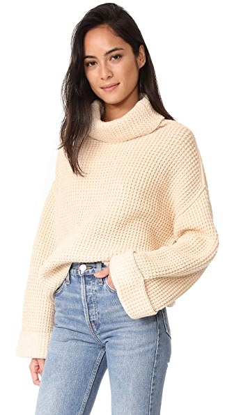 Free People Park City Pullover Sweater - Ivory