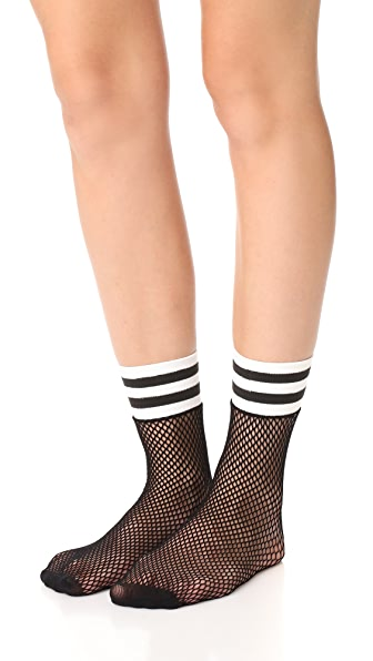 Free People Riot Sport Fishnet Socks - Black