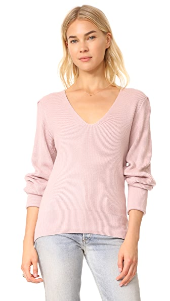 Free People Gingersnap Tunic Sweater In Rose