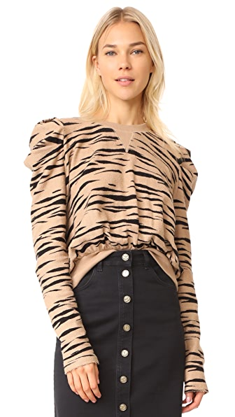 Free People Zaza Zebra Pullover Top