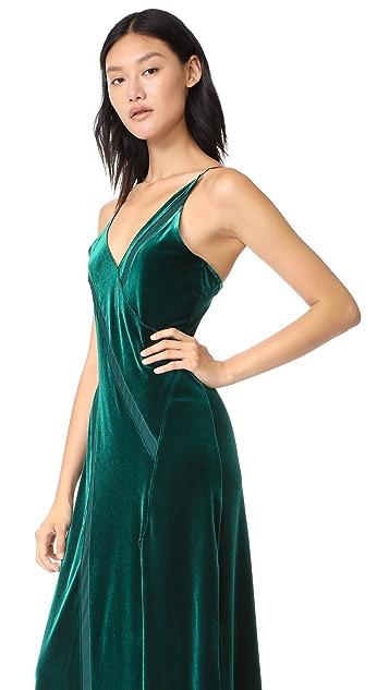 Free People Spliced Velour Maxi Dress