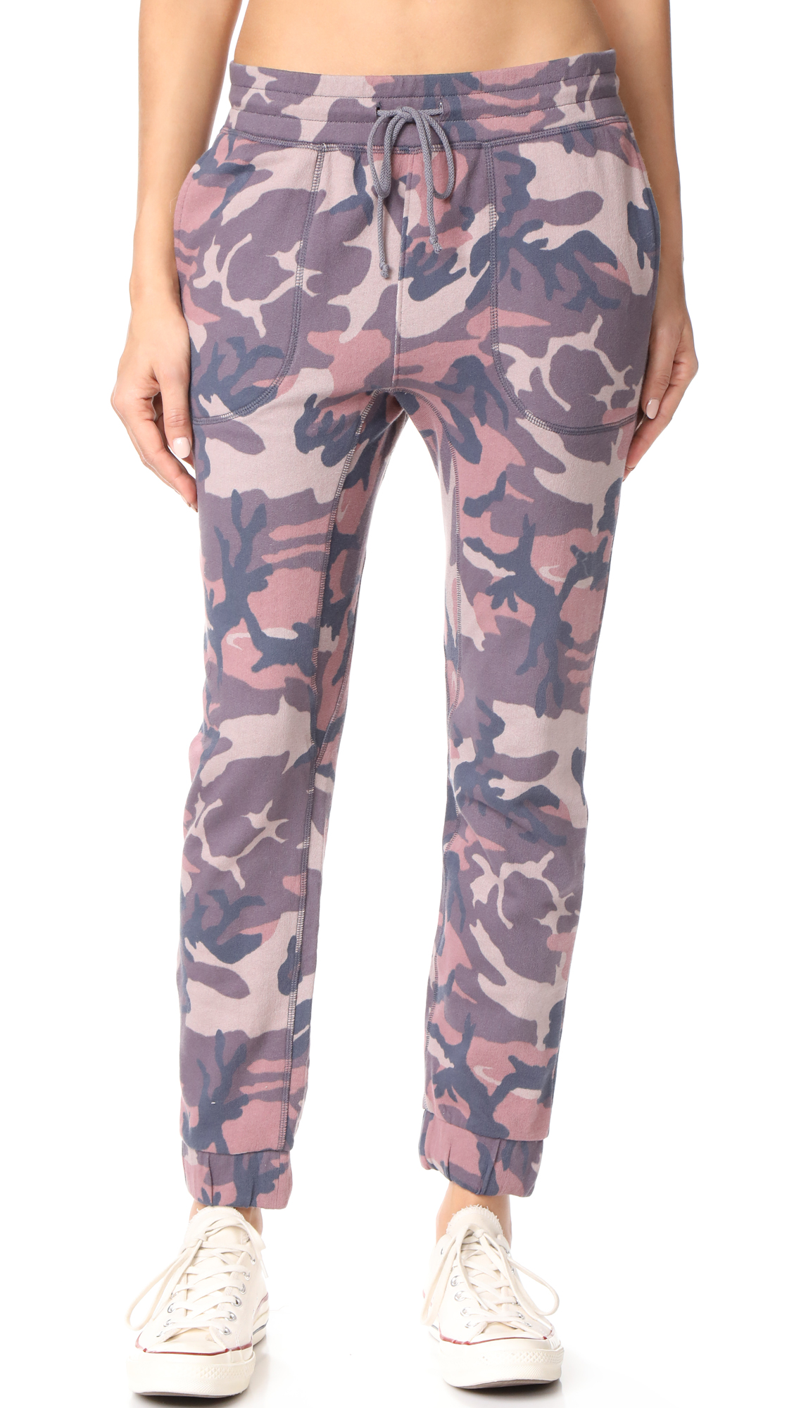Free People Printed Camo Scout Joggers - Sand