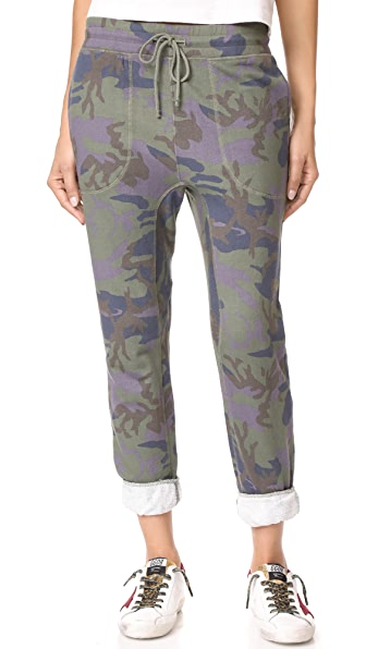 Free People Printed Camo Scout Joggers In Army