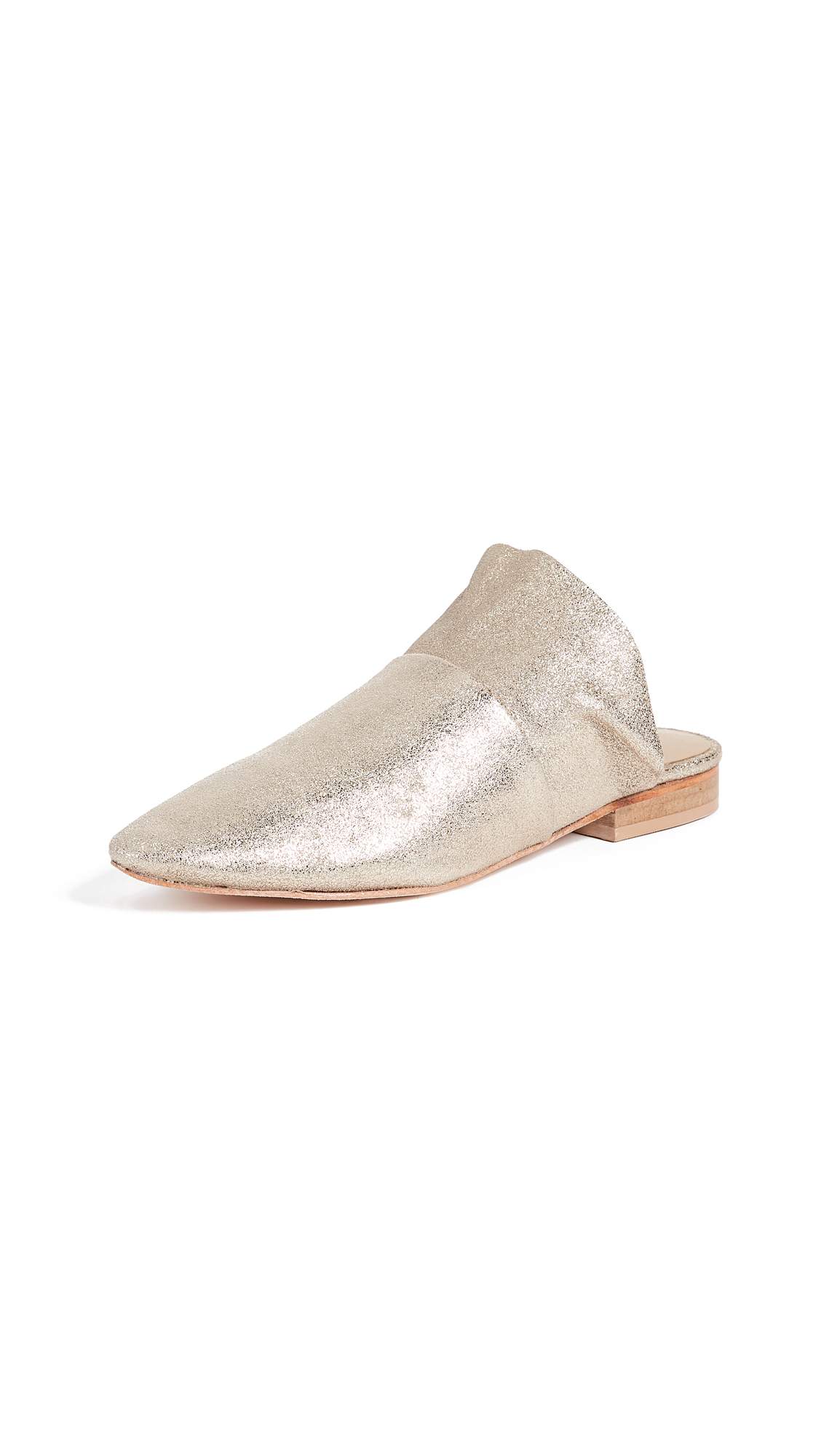 Free People Sienna Slip On Flats - Gold