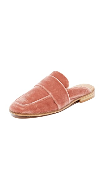 Free People Velvet At Ease Loafers In Rose