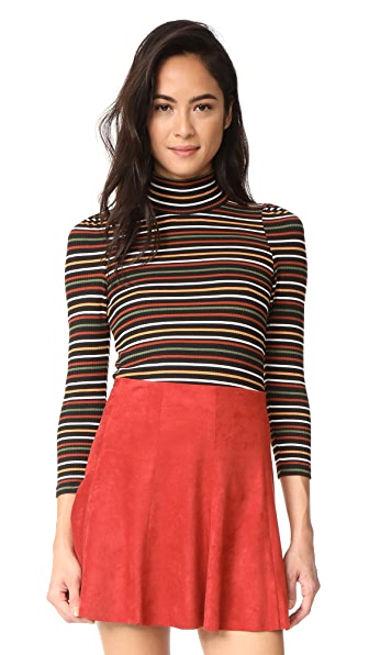Free People Striped I m Cute Top - Black
