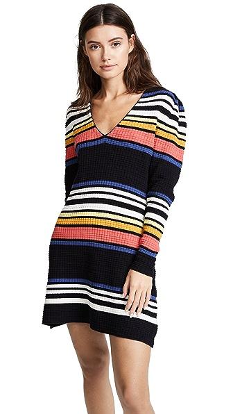 Free People Gidget Sweater Mini Dress In Black