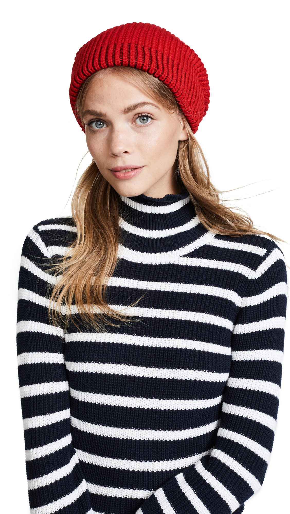 Free People All Day Everyday Slouchy Beanie Hat - Red