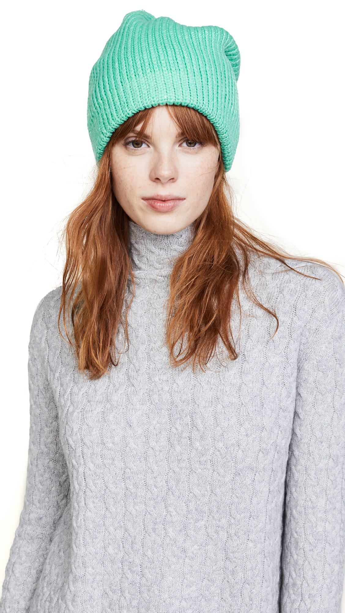 Free People All Day Everyday Slouchy Beanie Hat - Turquoise