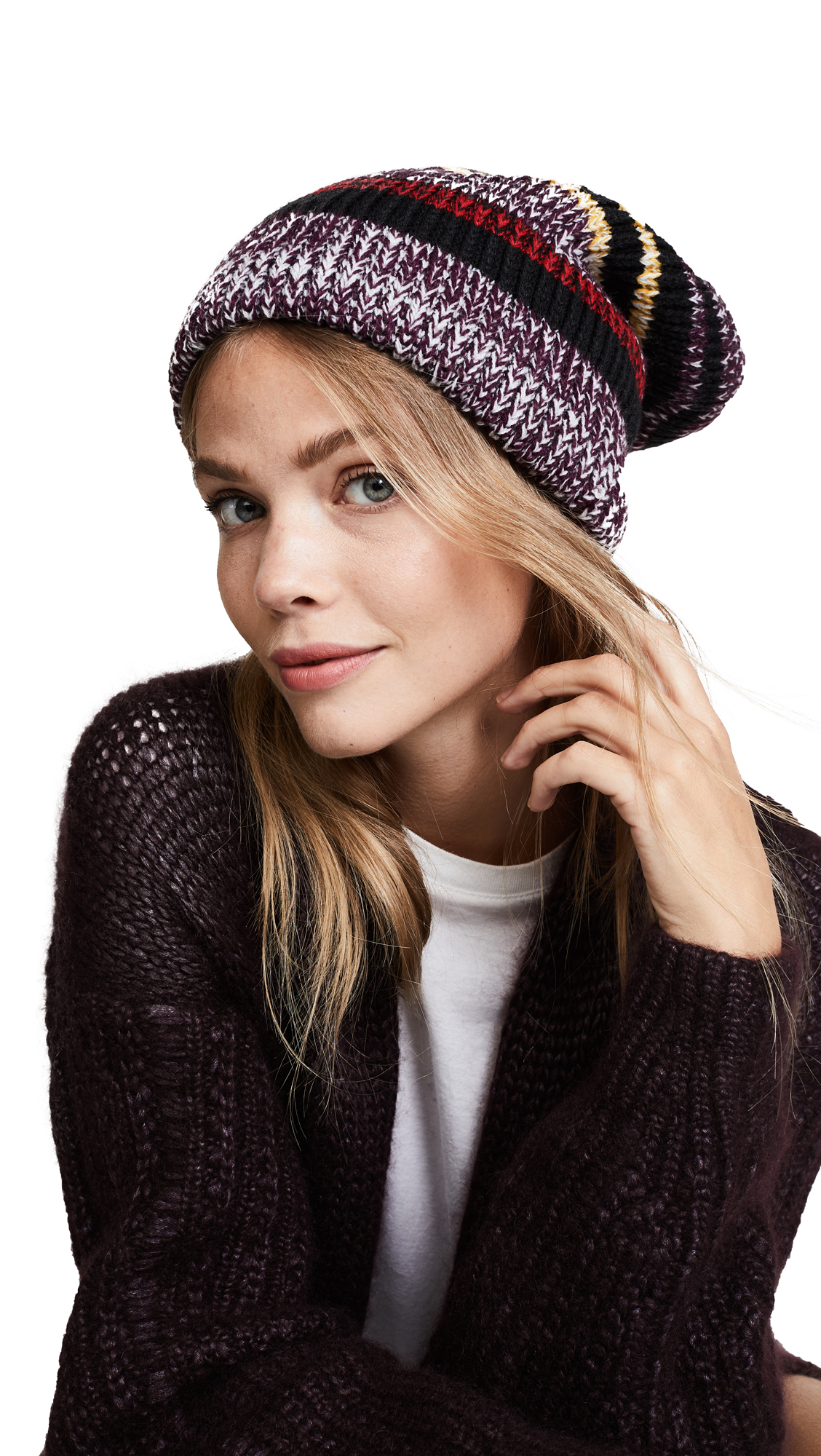 Free People All Day Everyday Slouchy Beanie - Red