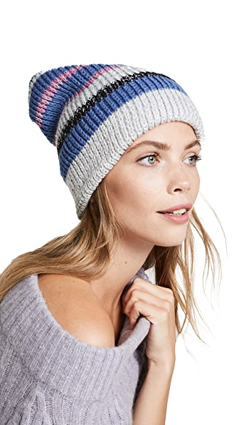 Free People All Day Everyday Slouchy Beanie In Blue