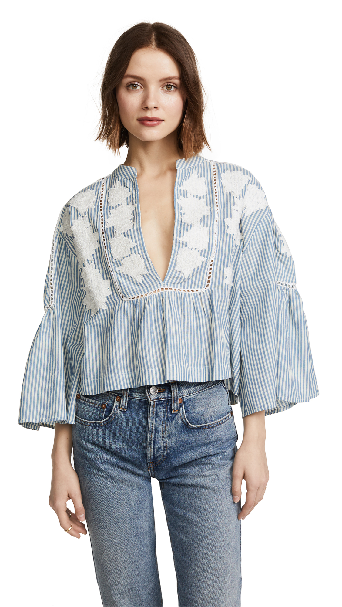 Free People Liya Embroidered Tunic