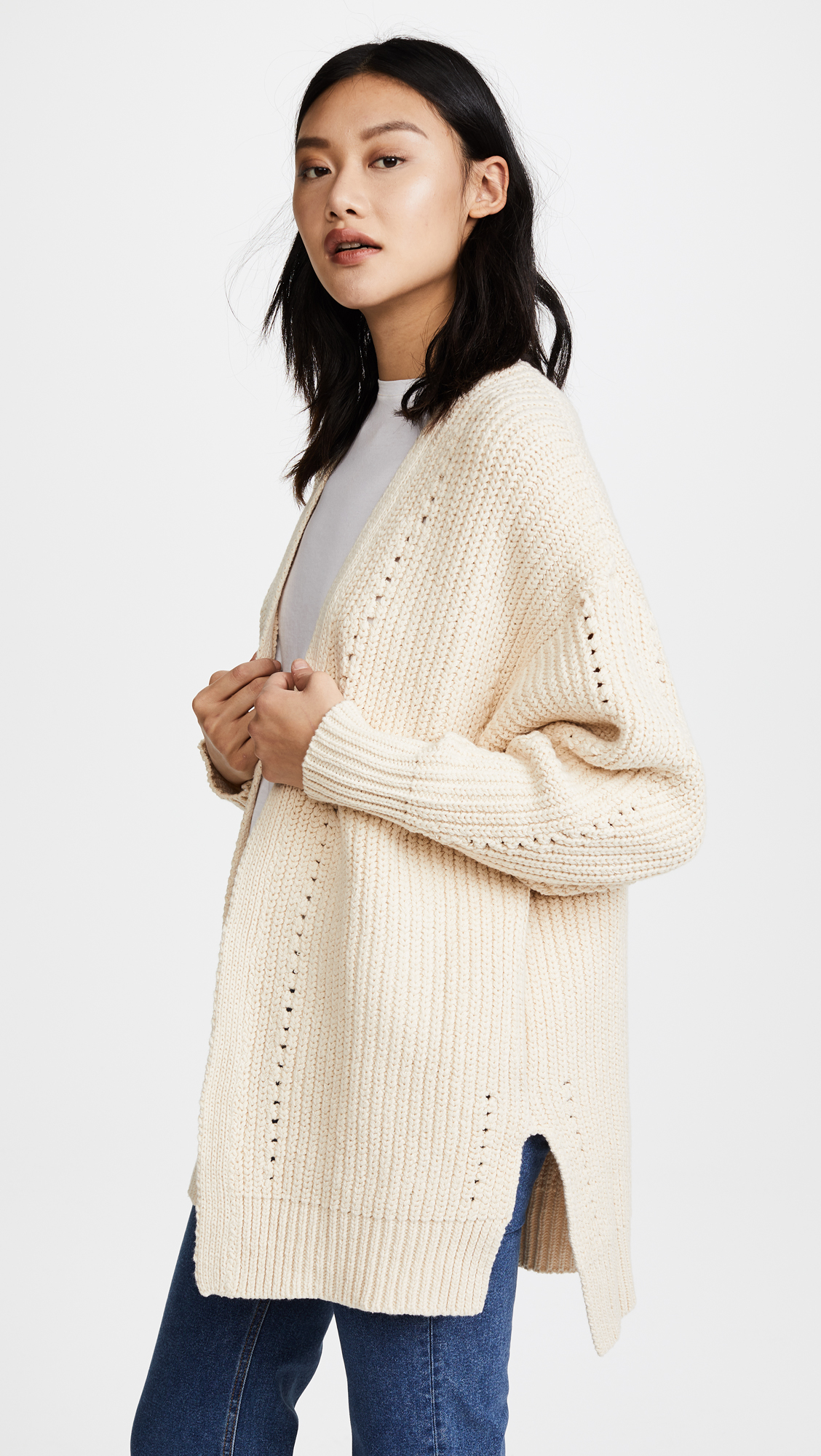 Nightingale Cardigan in White. - size M (also in L) Free People Factory Outlet For Sale Cheap Sale Finishline Outlet 2018 NXM0p
