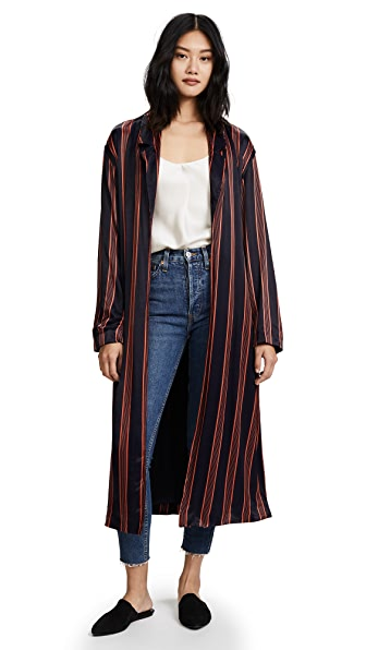 Free People Atruim Striped Duster