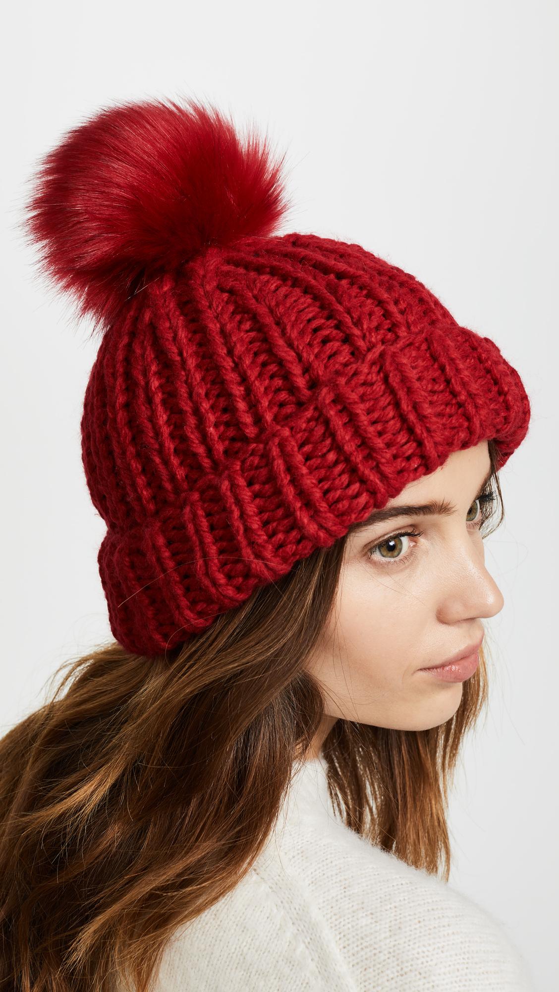 da778996a91 Free People Happy Trails Pom Beanie Hat