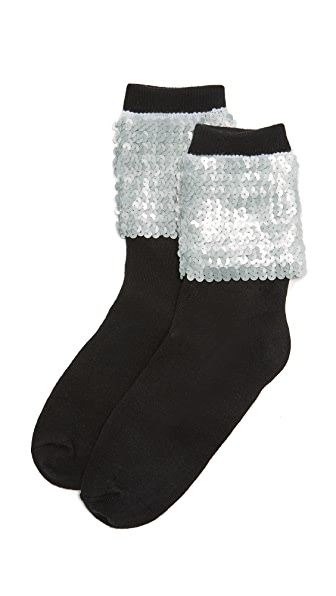 Free People Ziggy Sequin Socks