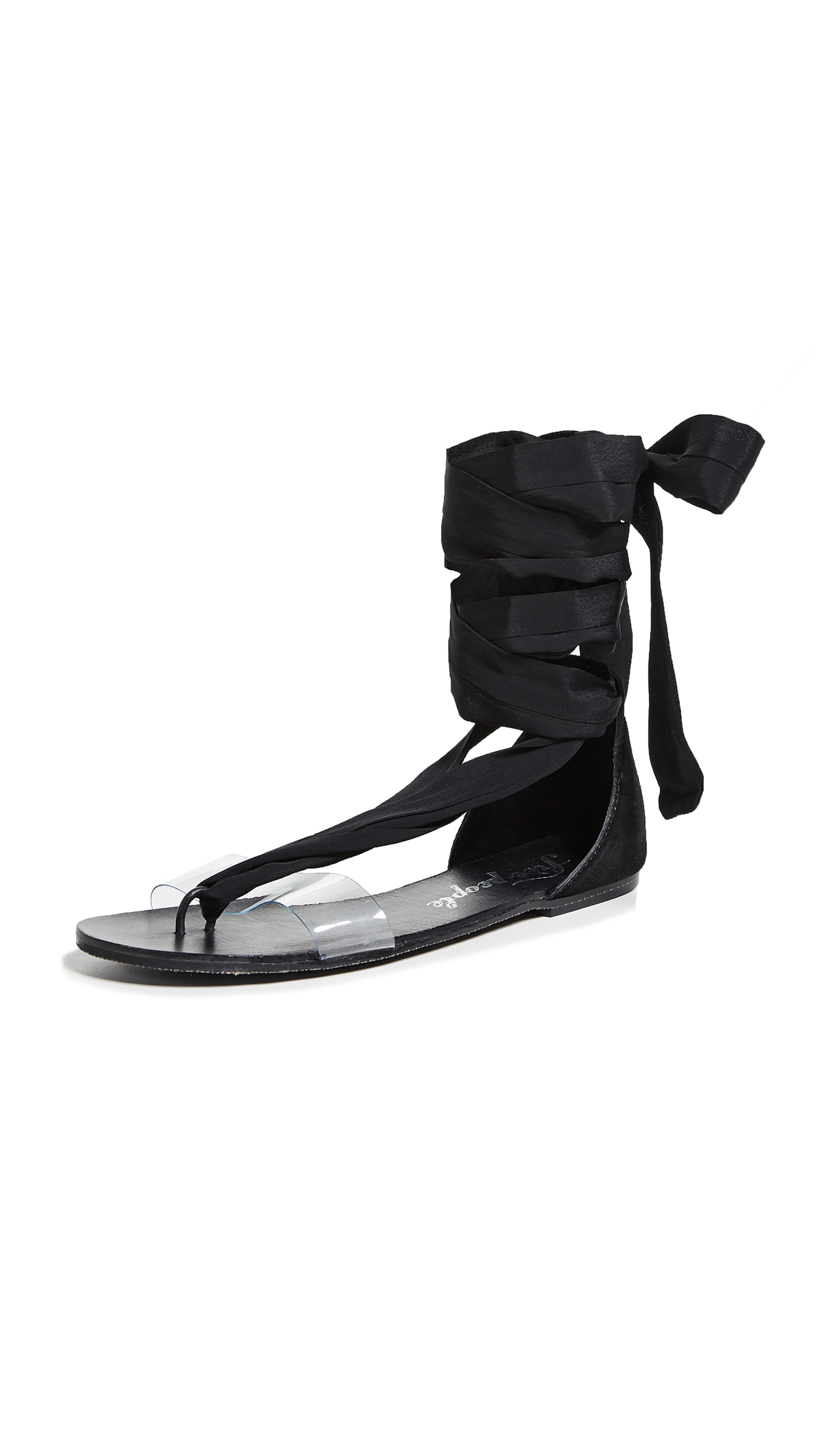 Free People Barcelona Wrap Sandals - Black
