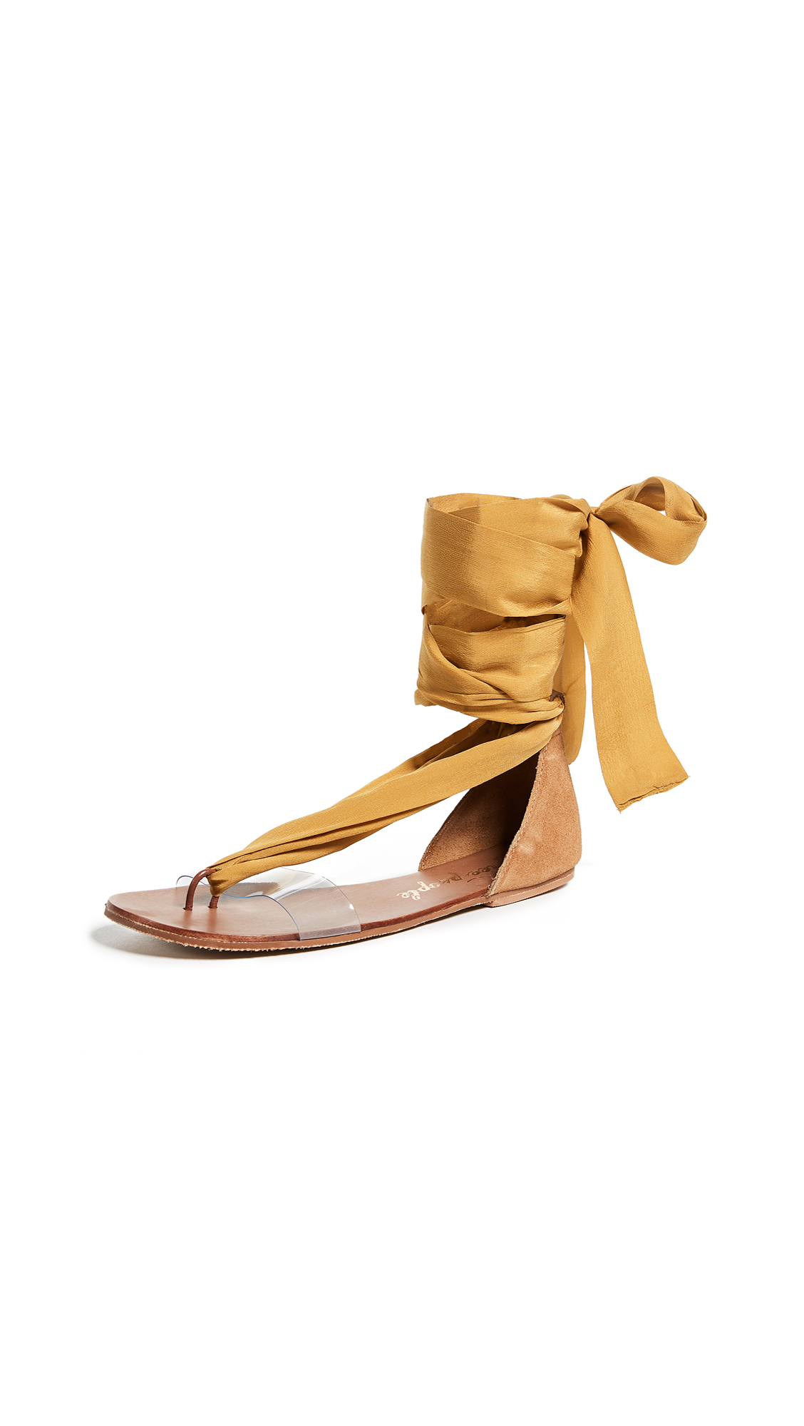 Free People Barcelona Wrap Sandals - Yellow