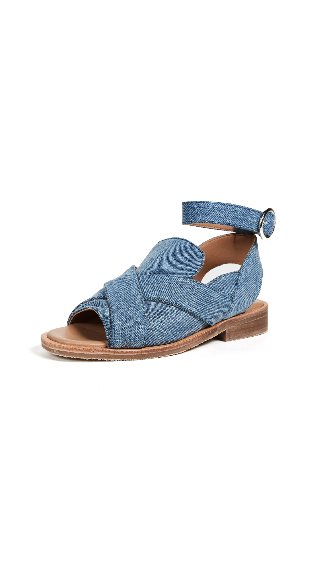 Free People Denim Catherine Loafer Sandals