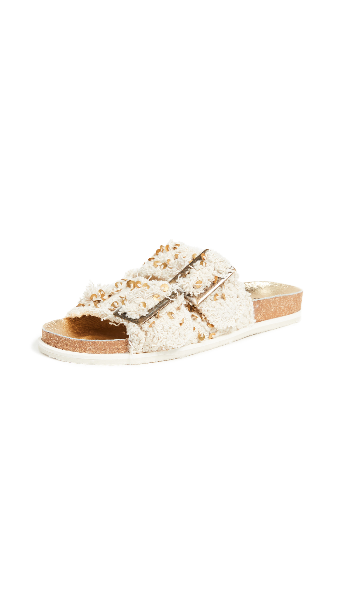 Free People Bali Footbed Slides - Cream