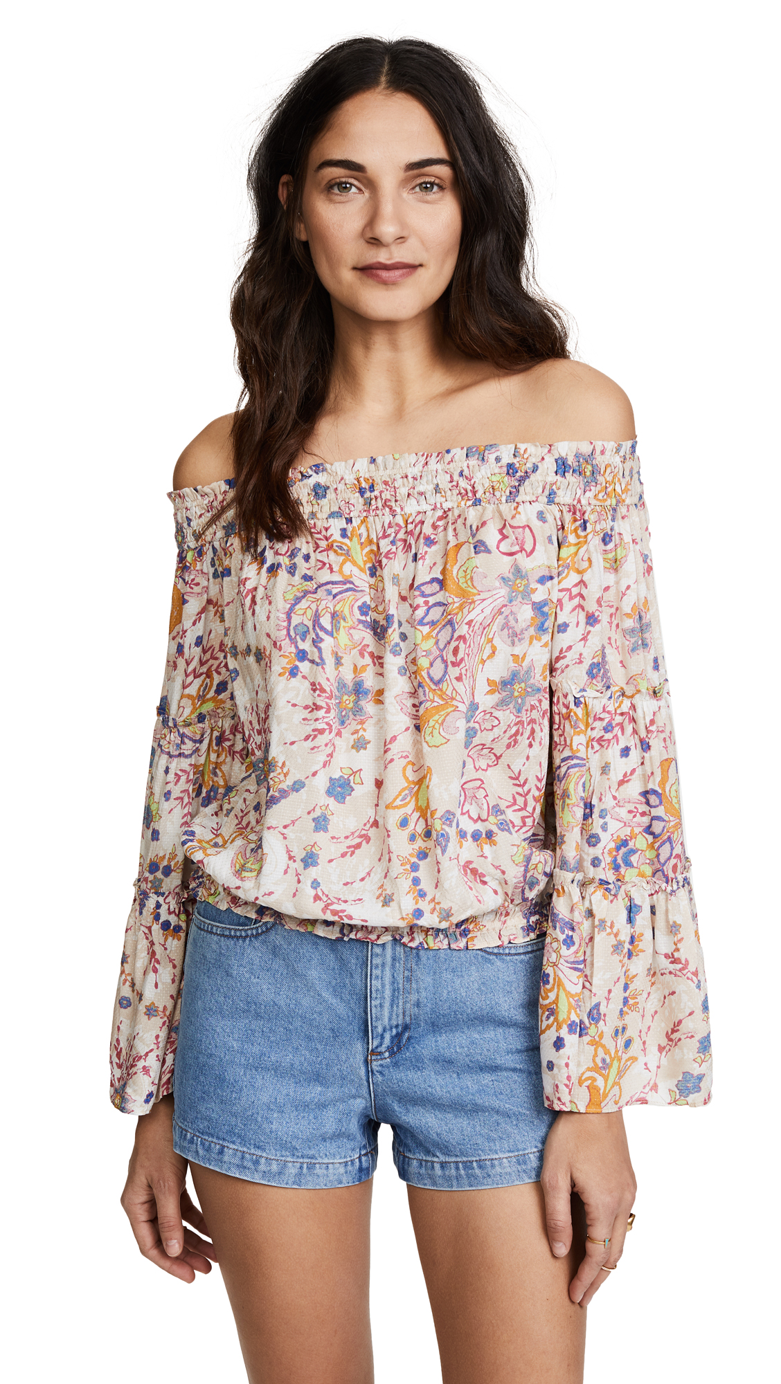 Free People Free Spirit Printed Top