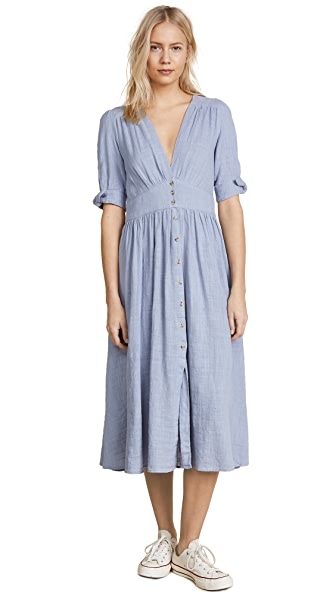 Free People Love of My Life Dress In Blue