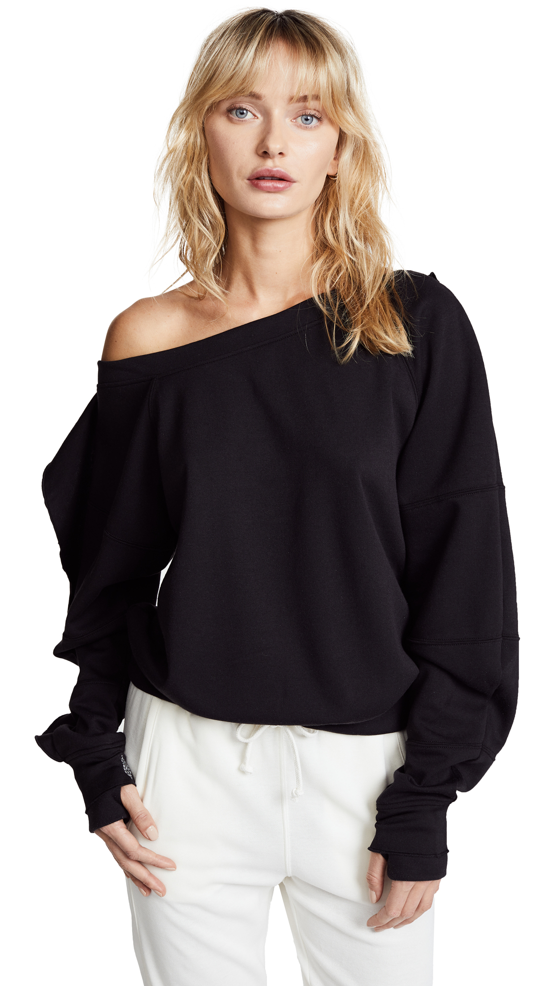 Free People Movement Flounce Tech Top In Black