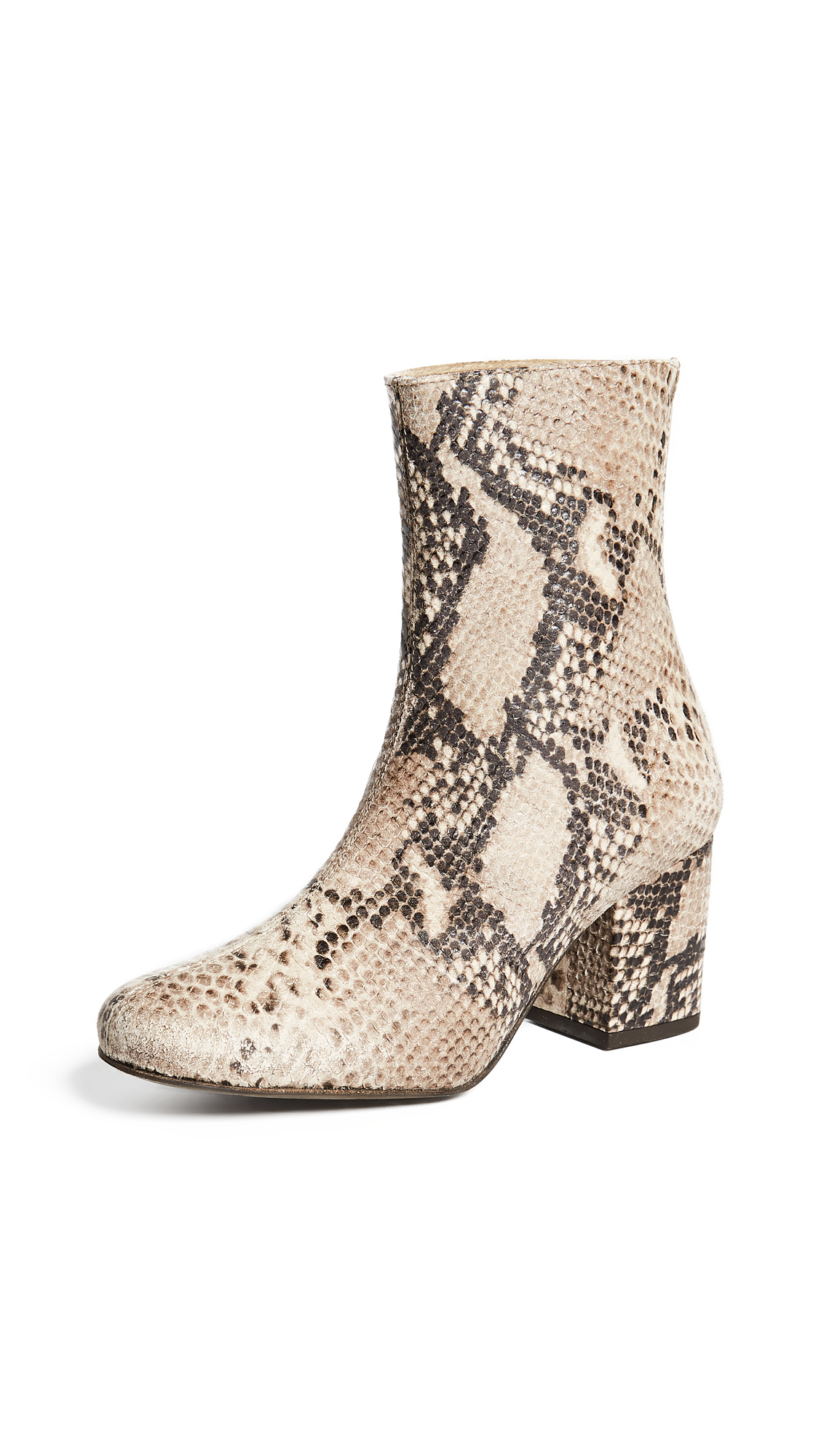 Free People Cecile Ankle Booties - Taupe