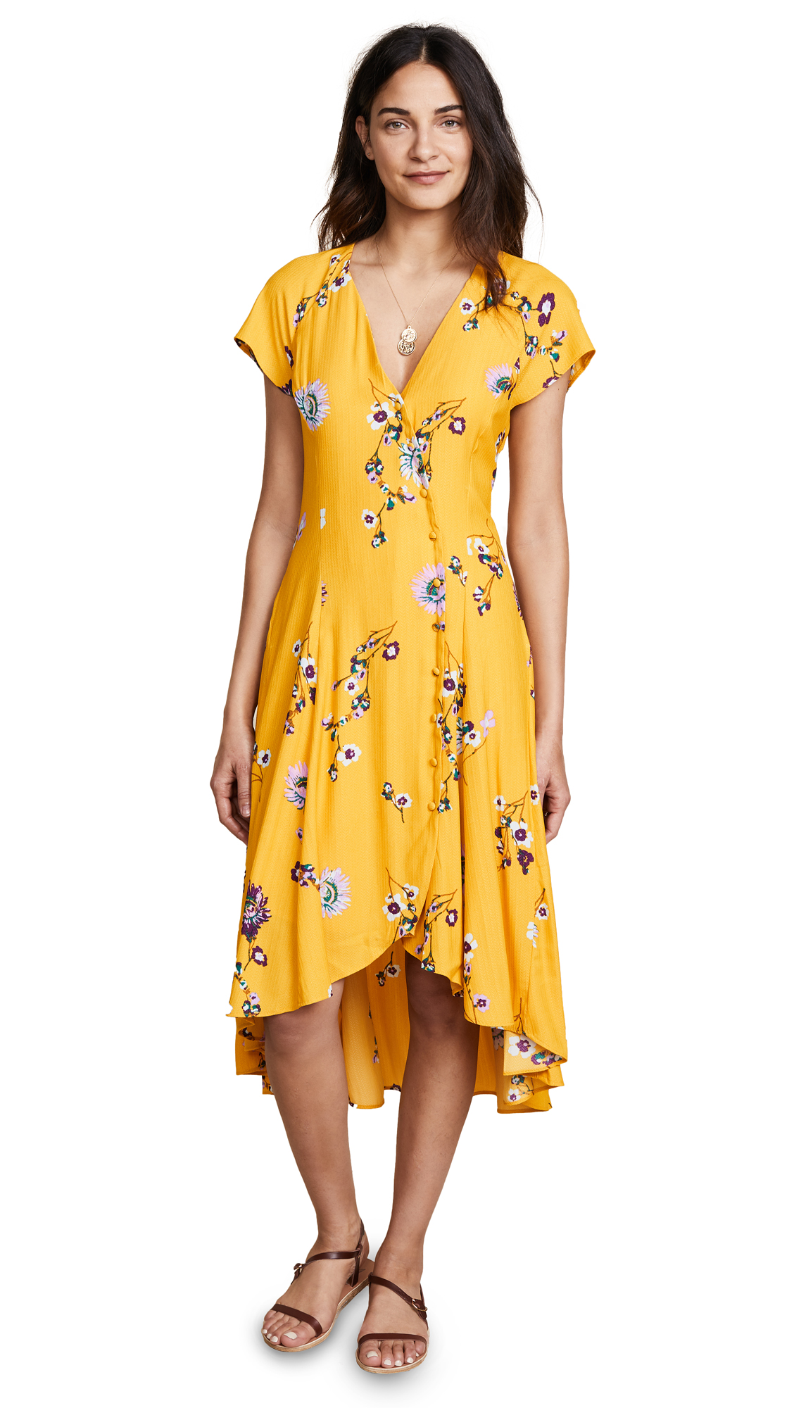 FREE PEOPLE LOST IN YOU FLORAL MAXI DRESS b65afd256