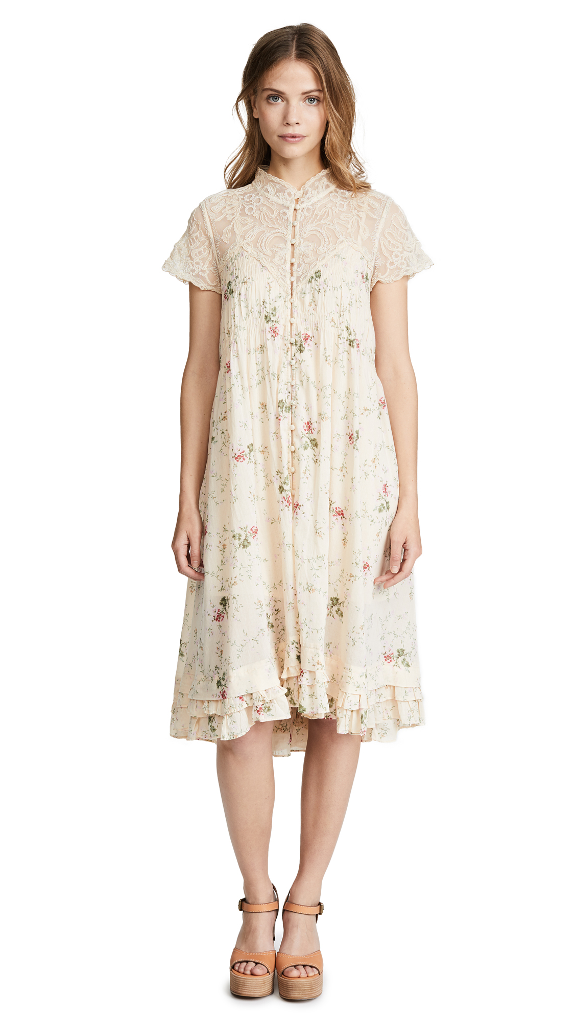 Free People Decadent Midi Dress