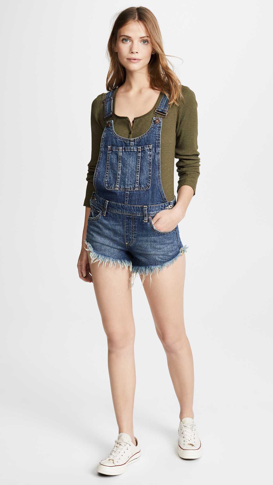 2214e77fe6a4 Free People Summer Babe High Low Overalls