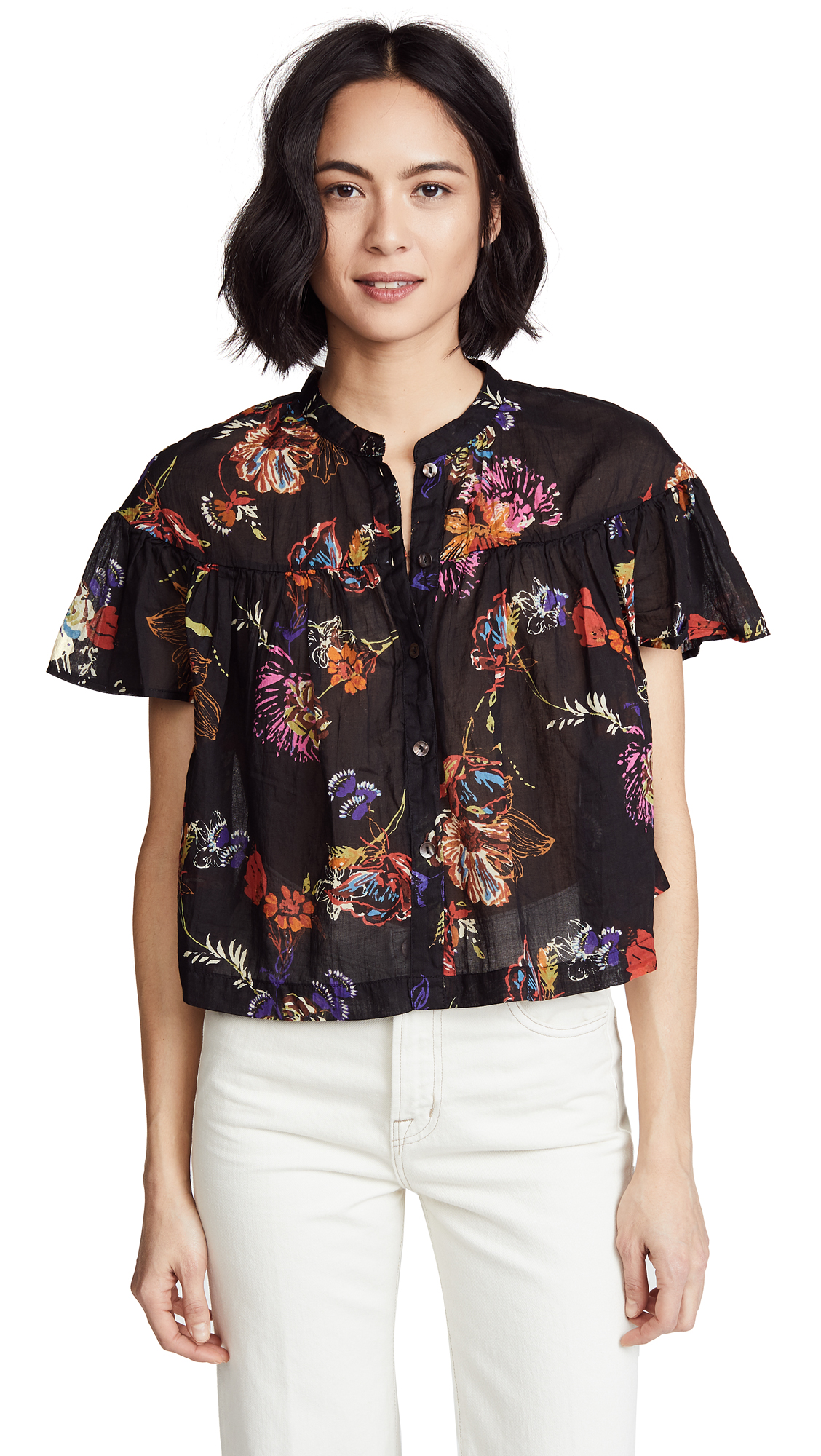 SWEET ESCAPE BUTTONDOWN BLOUSE